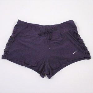 NIke Dri Fit S Running Shorty Shorts Ruched Side